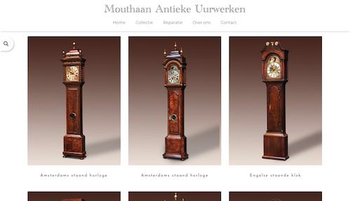Mouthaan Antieke Uurwerken website